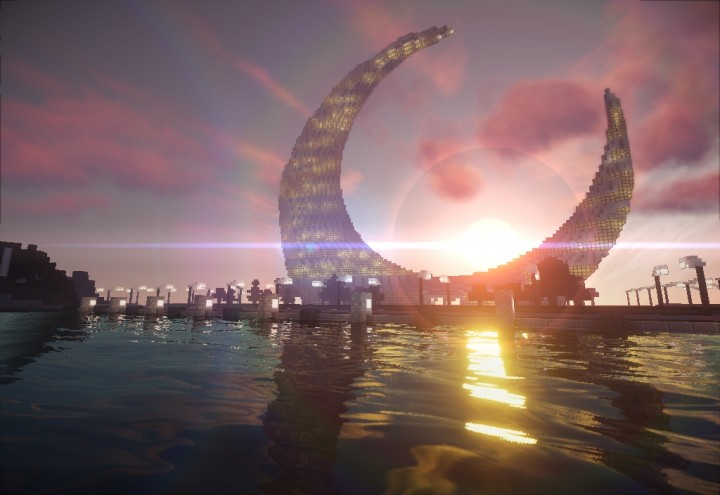 Crescent moon tower dubai minecraft project for Moon architecture