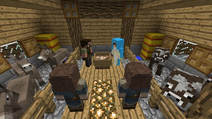 1 8] Nativity Scene w/ Custom NPCs Minecraft Project