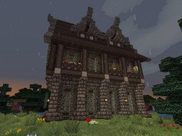 Rose Island, Medieval Survival House. Minecraft Map & Project