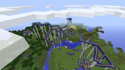 Blue Dive Rollercoaster Minecraft Map & Project