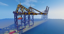 S-2 Container Container Cargo Port Gantry Crane Minecraft Project