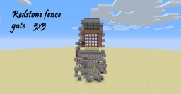 Redstone fence gate 5x5 Minecraft Map & Project