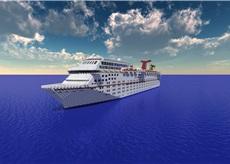 Carnival Fantasy 1:1 Scale Cruise Ship [+Full Interior] 1.8 Minecraft Map & Project