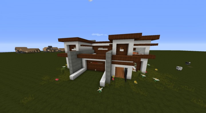 Modern House 4 SpruceQuartz Design Minecraft Project
