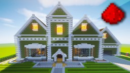 Realistic Redstone House (Traditional Mansion) Minecraft Map & Project
