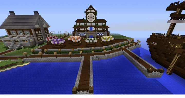 Altitude Server Survival Builds- My Island Base Minecraft Project