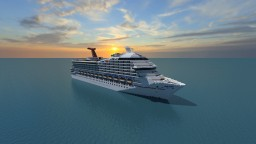 Carnival Victory Cruise Ship [Full Interior] {1:1 Scale} Minecraft Map & Project
