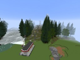 Slope Ski / Bike Park Minecraft Map & Project