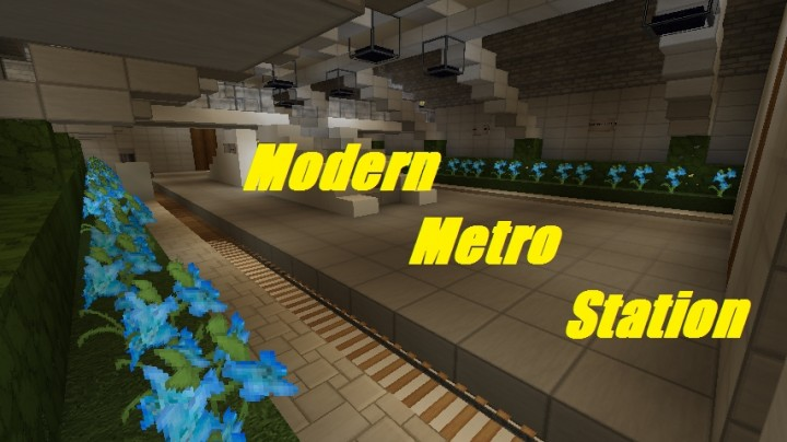 Modern Metro Station Minecraft Project