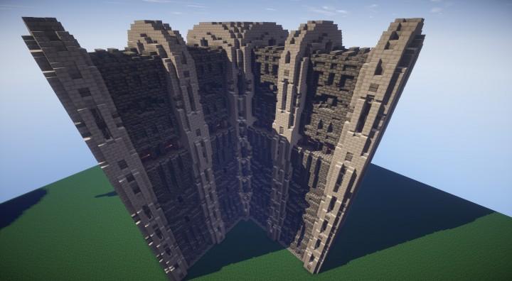 minecraft wall designs. Tall Wall Corner Schematic In World Download Minecraft Designs