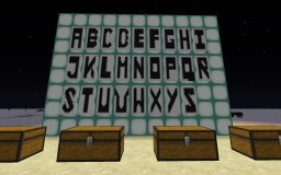 Alphabet on banners Minecraft Map & Project