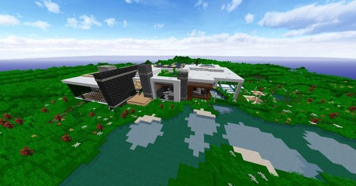 A medium sized modern house minecraft project for Medium modern house