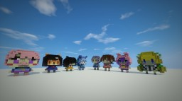 Character Statues Minecraft Map & Project