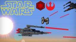 Resistance T-70 X-Wings and First Order Tie Fighters Minecraft