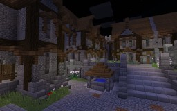 A corner of Aurora City - ElyssiaMC Minecraft Project