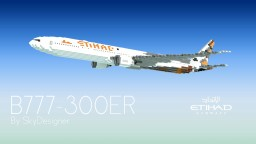 Boeing 777-300ER  |  Etihad Airways Minecraft Map & Project