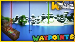 Waypoints & Deathpoints with only one command block Minecraft