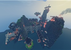 SanTown Bay Steampunk by Lutai_San Minecraft Map & Project