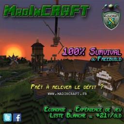MadInCRAFT 100% Survie Minecraft