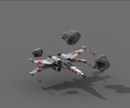 X-Wing (Rebel Star Fighter) from Star wars Minecraft
