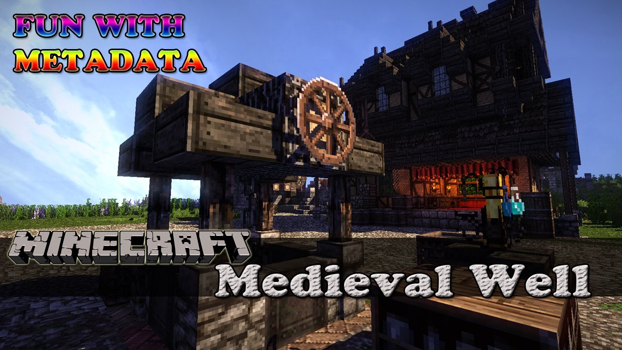 Medieval Town Well Minecraft Project