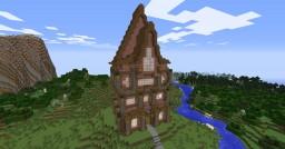 Tonbridge Manor - Brick, Acacia, and Spruce Inspiration Minecraft Map & Project