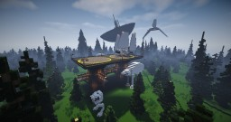 Minecraft STAR WARS FOREST MOON OF ENDOR  (Shuttle Tydirium,  AT-AT,  and AT-ST) Minecraft Map & Project