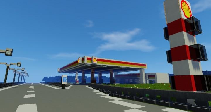 Shell Tank Station Petrol Pump Minecraft Project