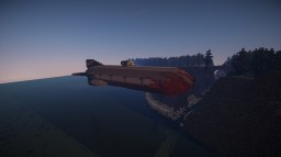 Pirate Flagship Onslaught - Working Air Warship w TNT Cannons Minecraft Map & Project