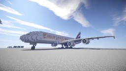A380-800 in Emirates Livery (REMAKE) Minecraft Map & Project