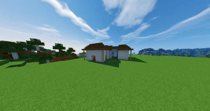 Modern Glass House Minecraft Project - 56.4KB