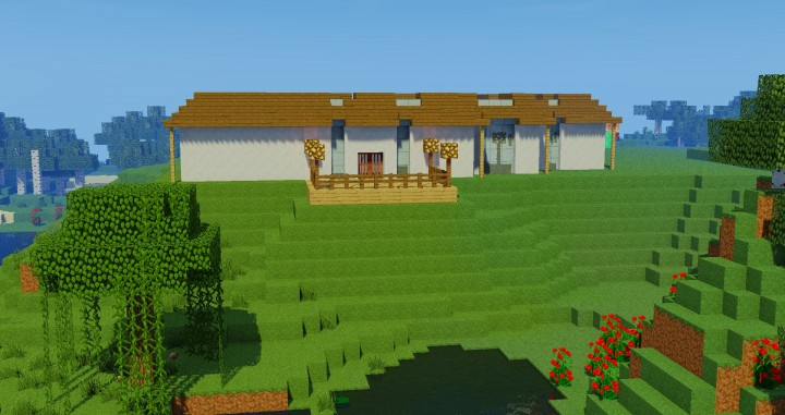 Modern Glass House Minecraft Project - 73.5KB