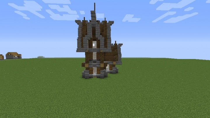 Small Medieval House Schematic Minecraft Map