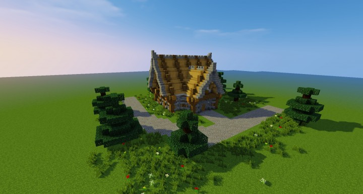Medium Size Meval House Schematic Minecraft Project on