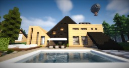 House style A-frame Minecraft Project