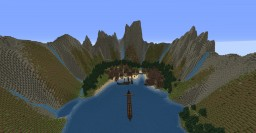 Viking village in a fjord