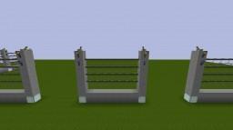 Jurassic Adventure Low Carnivore/Herbivore Security Fences Minecraft Project