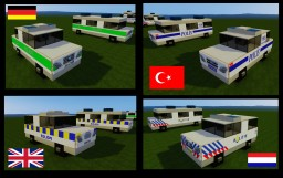 4 Europian police car pack Minecraft Project