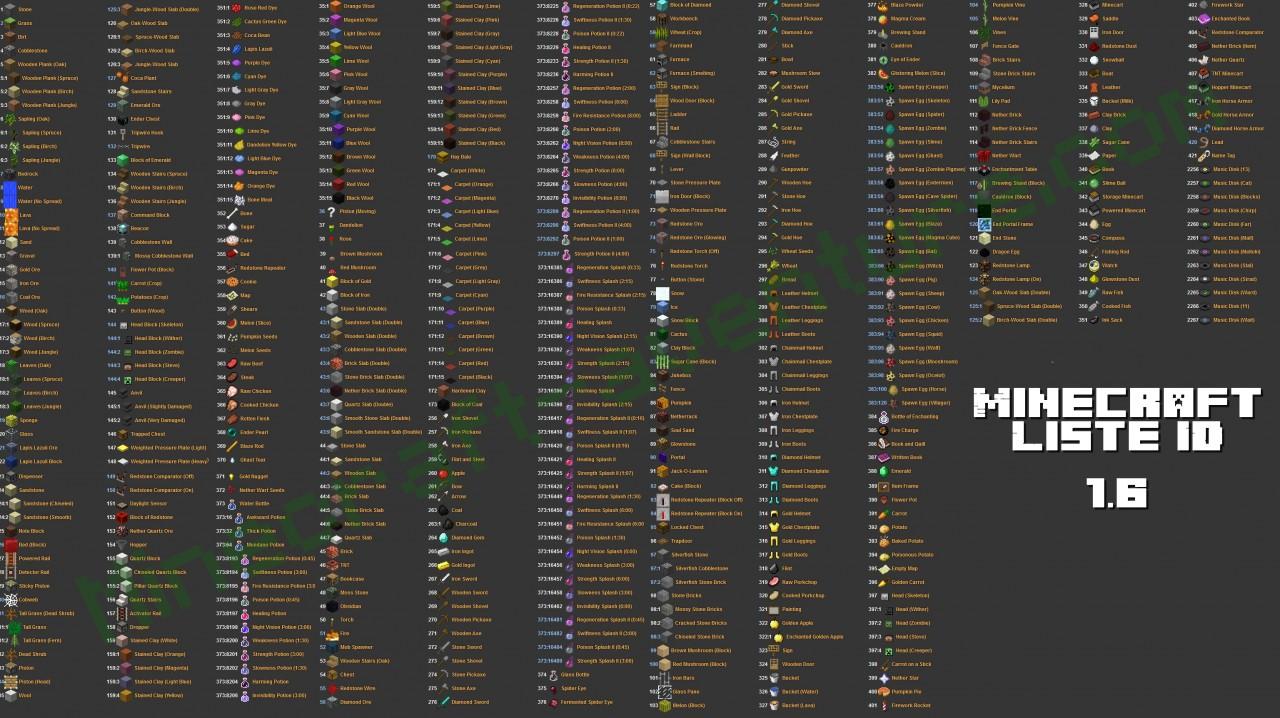 Minecraft full half slab id