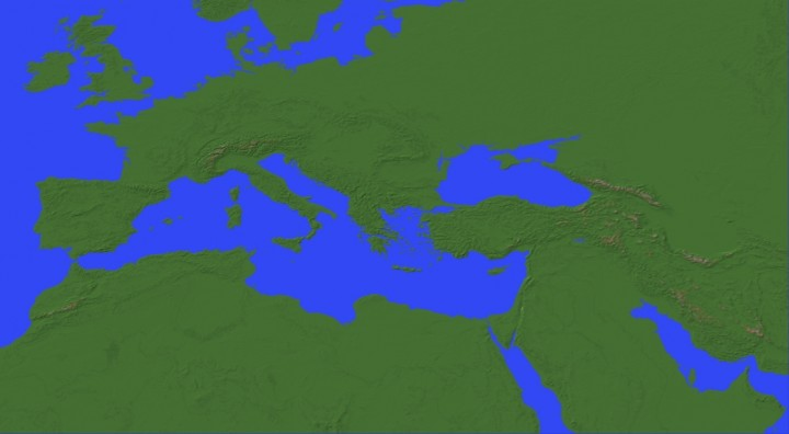 Mediterranean Sea Europe Middle East North Africa Map 1 300