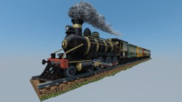 "-= 4-6-4 Steam Locomotive & Train, ""Perplex Express"" Mario Party 8 =- Minecraft"