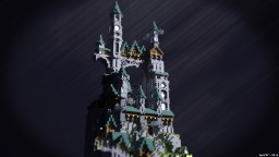 Medieval fantastic structure plot. Minecraft Project
