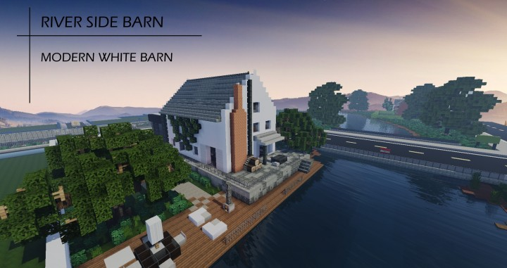 River Side Barn Modern House Minecraft Map