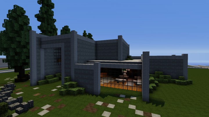 Concrete Modern House Minecraft Map