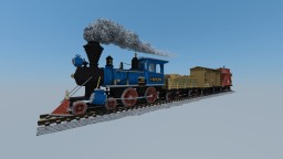 "-= *UPDATED* 4-4-0 American Steam Locomotive & Train, ""Mineral"" =- Minecraft Project"