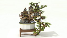 Bonsai tree house Minecraft