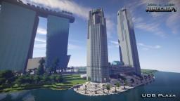 Singapore UOB Plaza Minecraft Map & Project