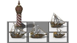 Medieval Ship Bundle! Minecraft