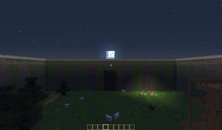 Glade facing the walls nighttime