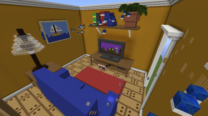 Living Room Parkour Minecraft Project